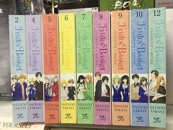 Fruits Basket Collector's Edition, Vol  2,4,5,6,7,8,9,10,12 Manga (9 Books)