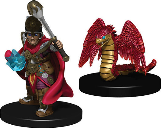 WizKids Wardlings: Boy Cleric & Winged Snake