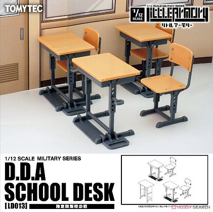 1/12 Little Armory (LD013) Designated Defense School`s Desk (Plastic model)