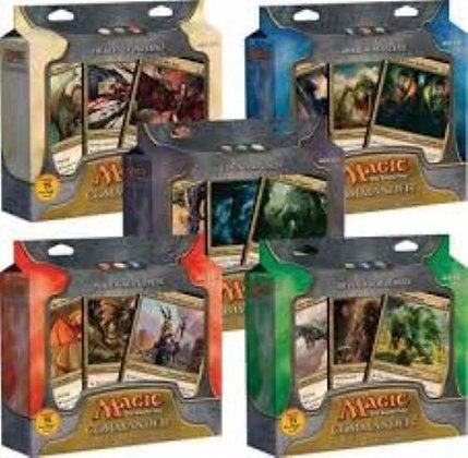 Set of 5 Sealed 2011-2012 Magic the Gathering MTG Commander Decks
