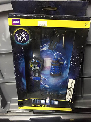 Doctor Who Digital Watch With Mini Remote Controlled Figure and Keychain