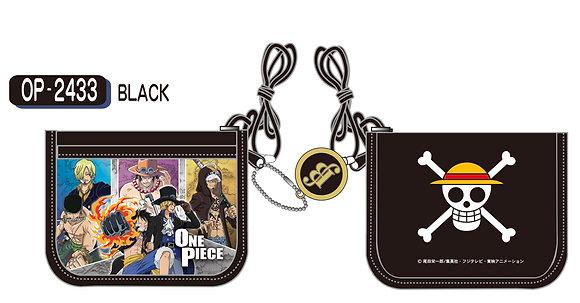 """""""One Piece"""" RF Wallet Black OP-2433-BK  by SunArt"""