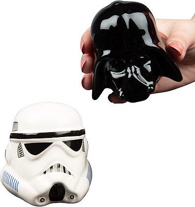 Star Wars Ceramic Salt and Pepper Shakers - Darth Vader & Stormtrooper