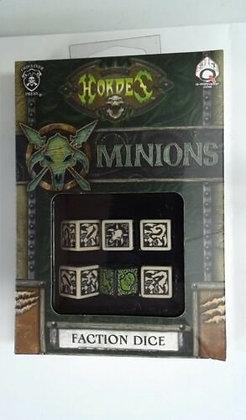 Q-Workshop Warmachine Hordes Minions Faction Dice Set (6 Piece Set)