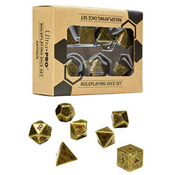 HEAVY METAL DICE: POLYHEDRAL 7-COUNT RPG SET DICE