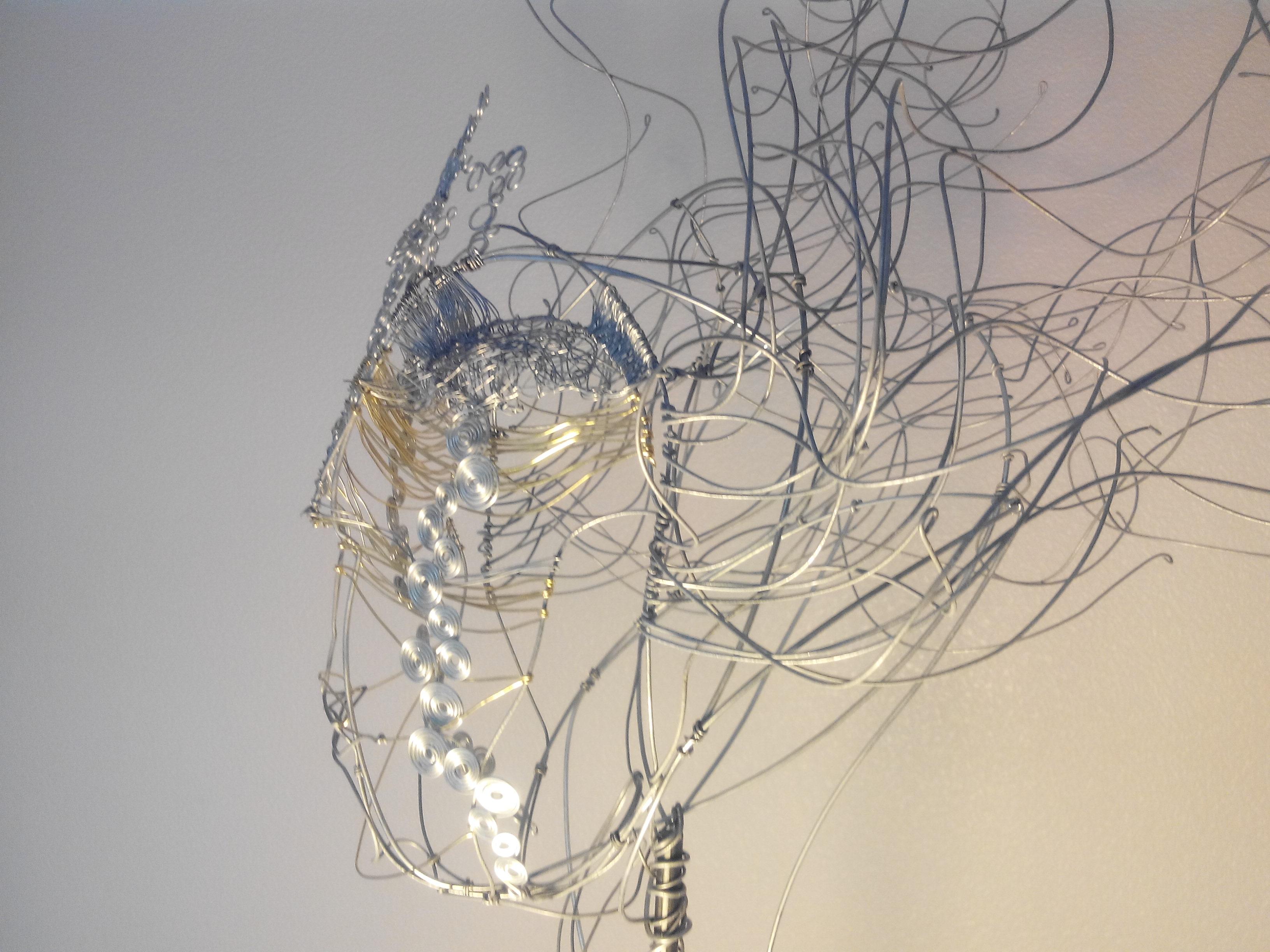 4.V.Braibant - fil de fer et laiton - Songe 80-30-30 cm