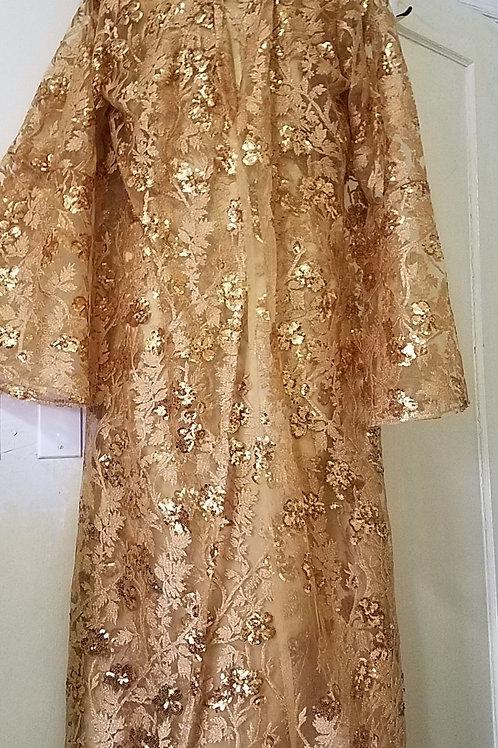 Gold lace dress 2 pcs
