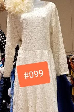 099 cream dress