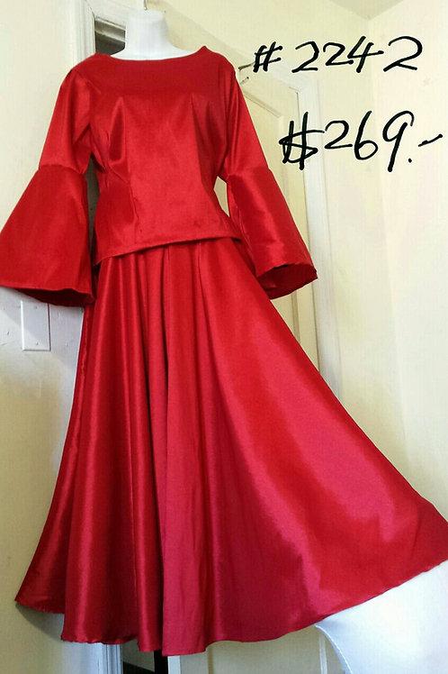 2242 red dress