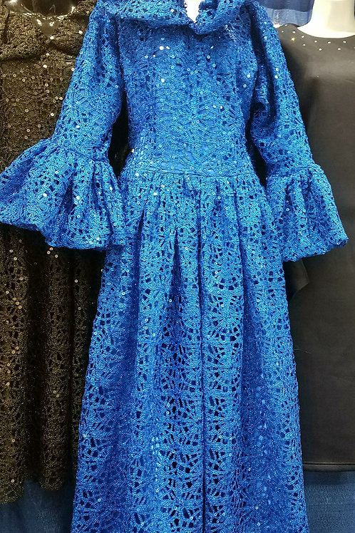 2888 royal blue lace dress
