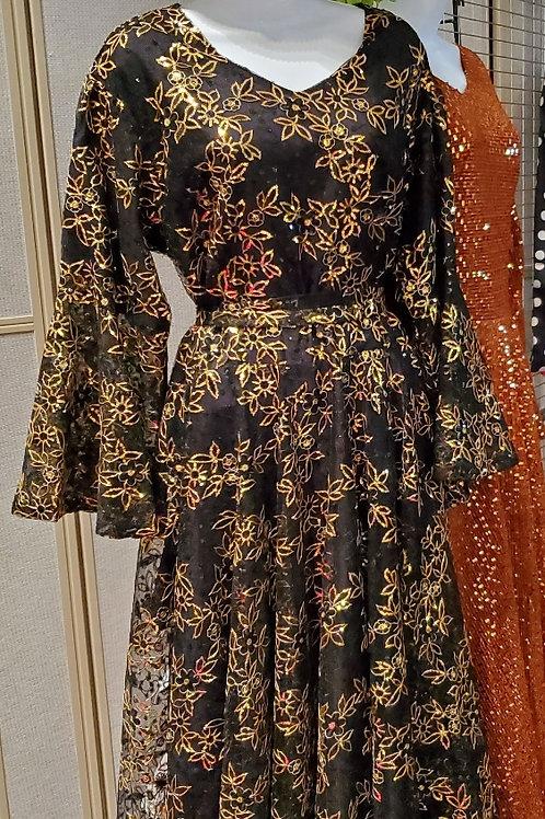 Blk/gold dress