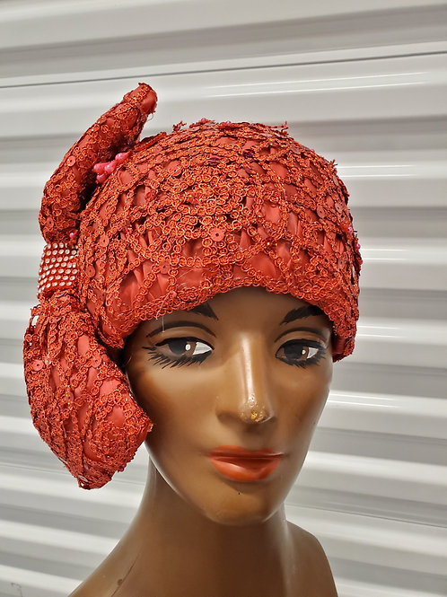 Red lace royal hat
