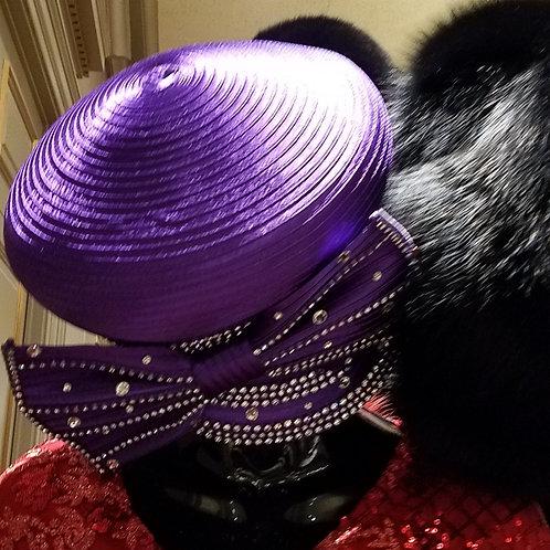 Purple  cap hat