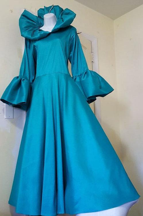 Teal dress #2888