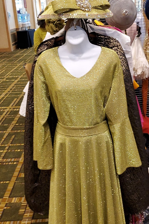 Lime/gold dress