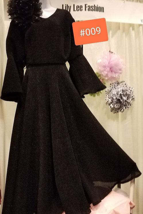 #009 blk dress