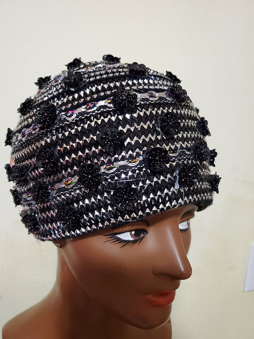 Blk/silve royal hat