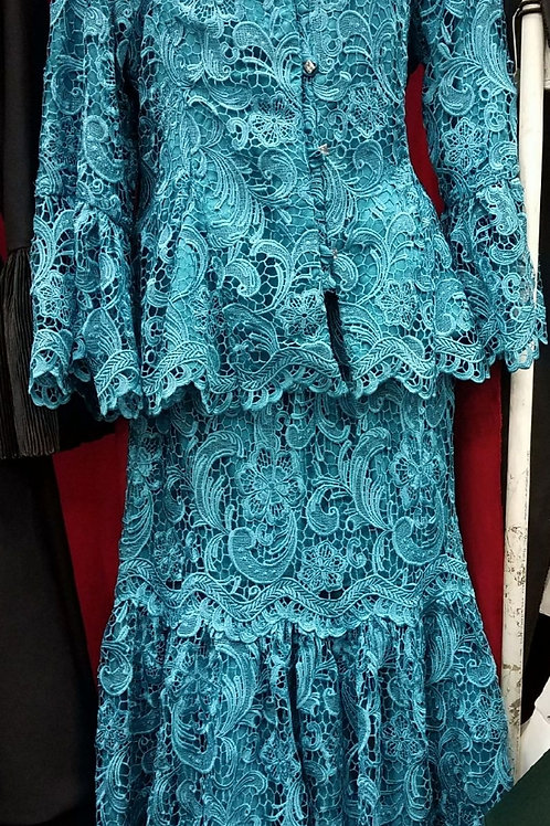 Teal lace dress  2 pcs