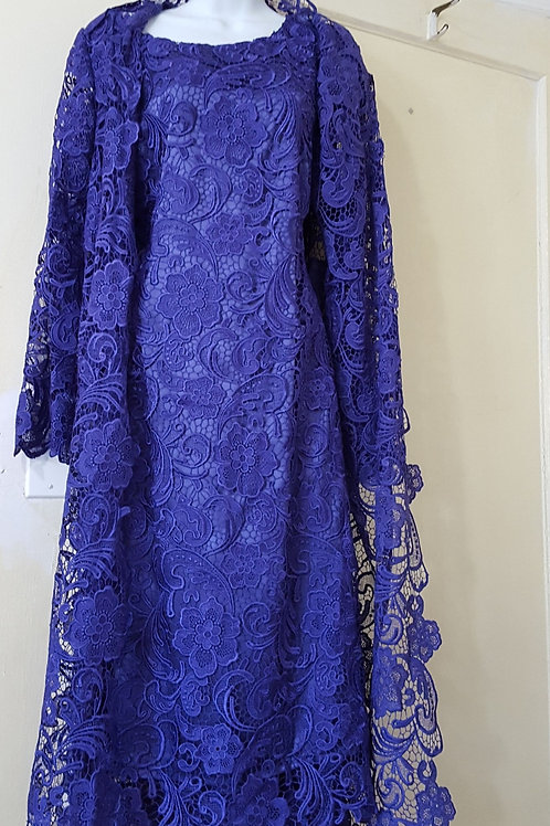Purple lace  2 pcs dress