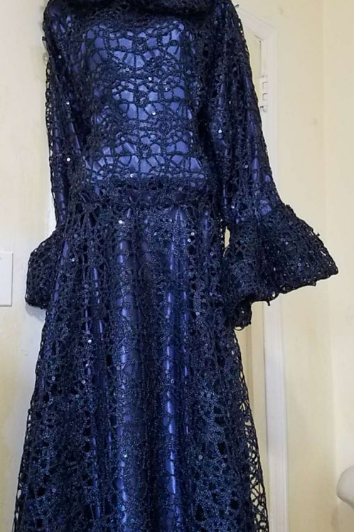 Navy lace #2888