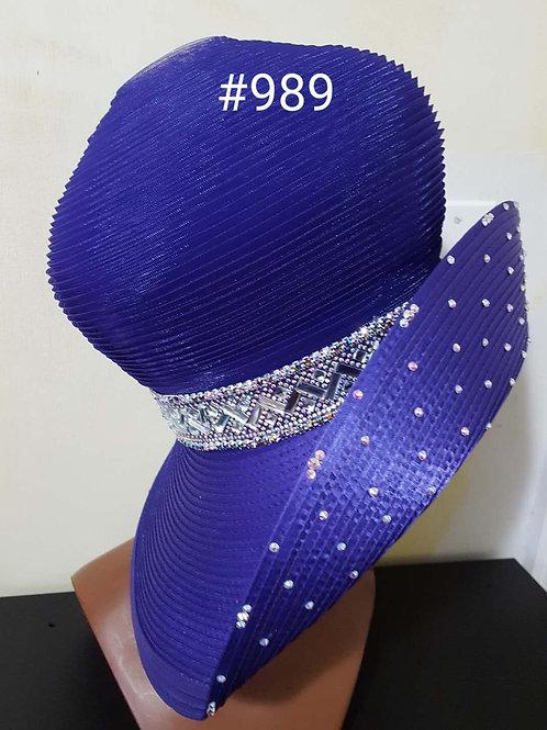 989 purple hat
