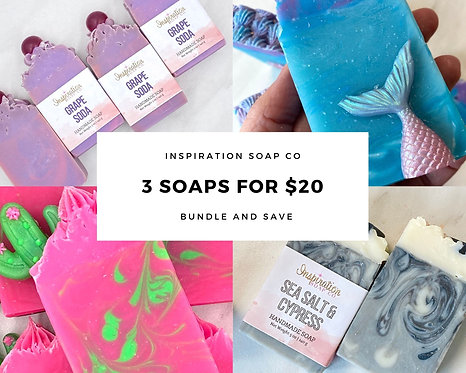 3 Pack of Soap, Choose your scents