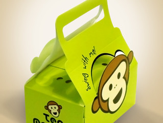 Tea Monkey Take Out Box