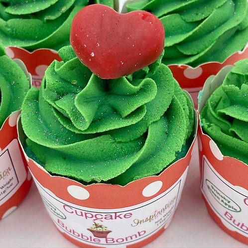 Cupcake Bubble Bombs - Grinchy Green Apple