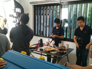 Shooting a Minute Burger Commercial