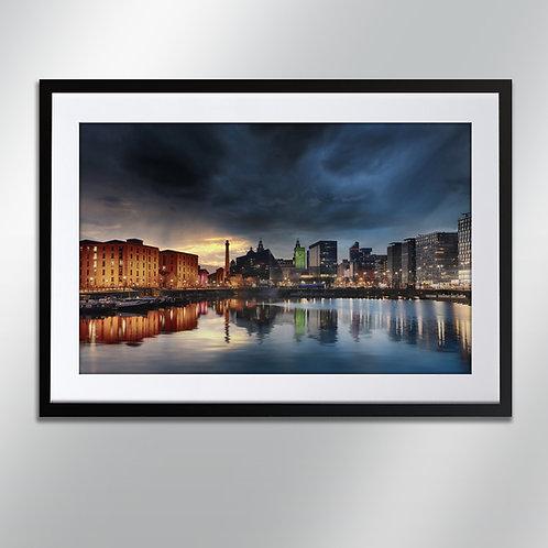 Liverpool Albert Dock, Wall Art, Cityscape, Fine