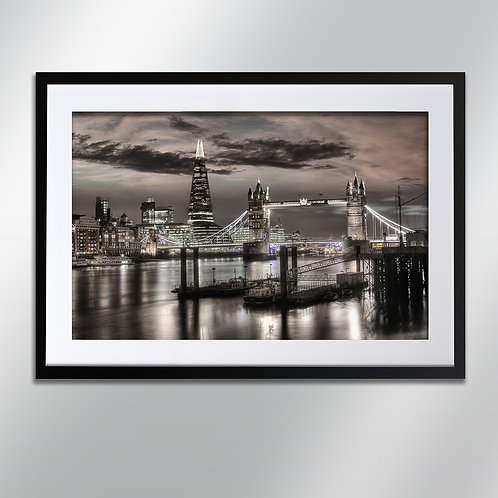 London Tower Bridge And Shard , Wall Art, Cityscape, Fine Art Photography