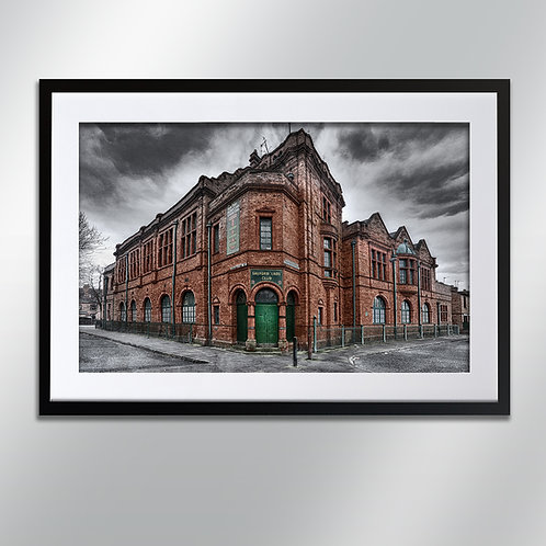 Manchester Salford Lads Club, Wall Art, Cityscape, Fine Art Photography