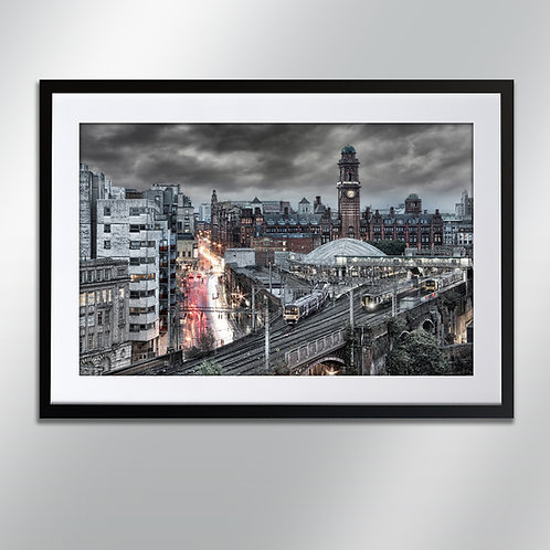 Manchester Rain Oxford Road Station, Wall Art, Cityscape, Fine Art Photography