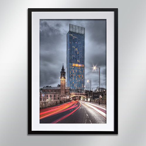 Manchester Deansgate And Beetham, Wall Art, Cityscape, Fine Art Photography