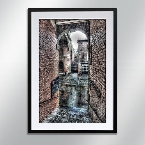 Stockport Little Under bank stairs, Wall Art, Cityscape, Fine Art Photo