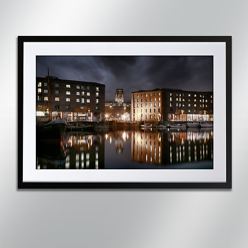 Liverpool Albert dock and Cathedral, Wall Art, Cityscape, Fine Art Ph