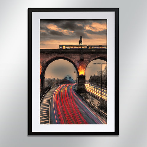 Stockport Viaduct and Pyramid , Wall Art, Cityscape, Fine Art Photo