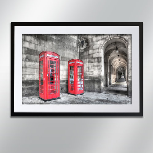 Manchester Phone Boxes, Wall Art, Cityscape, Fine Art Photography