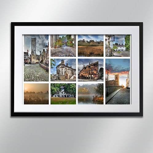Knutsford Montage, Wall Art, Cityscape, Fine Art Photography