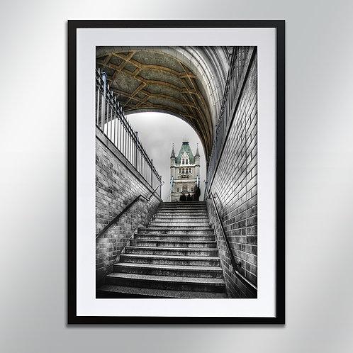 London Tower Bridge Steps, Wall Art, Cityscape, Fine Art Photography
