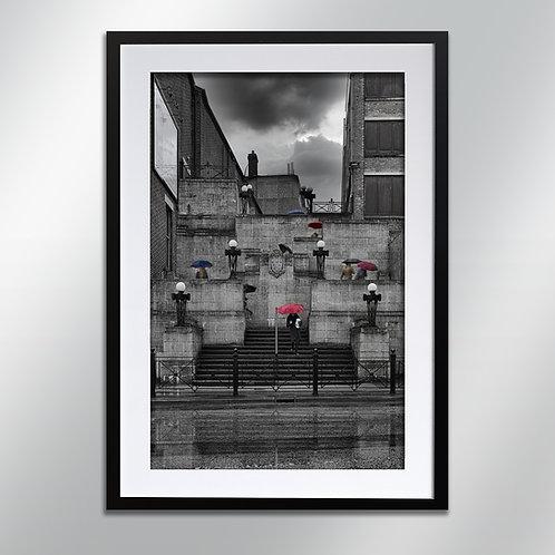 Stockport Plaza Steps, Wall Art, Cityscape, Fine Art Photo