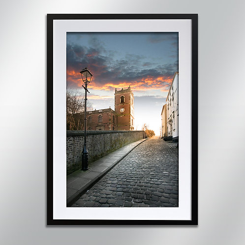 Knutsford Church Hill, Wall Art, Cityscape, Fine Art Photo