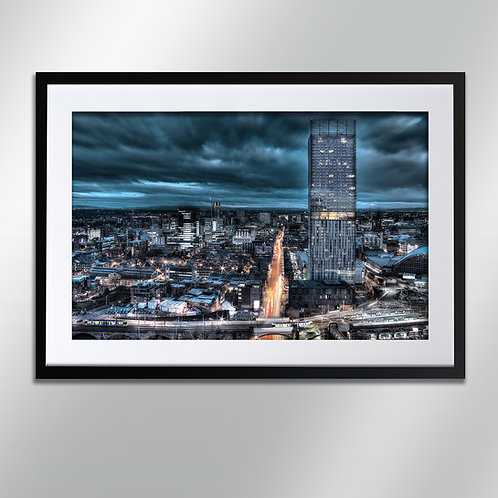 Manchester Deansgate And Hilton, Wall Art, Cityscape, Fine Art Photography