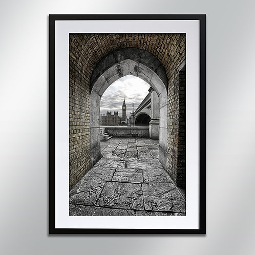 London Big Ben Through By Arch, Wall Art, Cityscape, Fine Art Photography