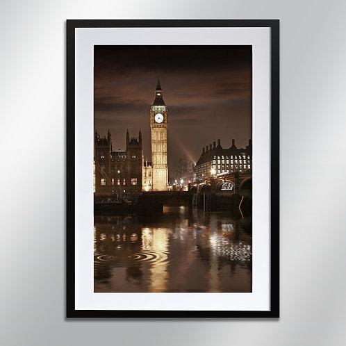 London Big Ben At Night, Wall Art, Cityscape, Fine Art Photography