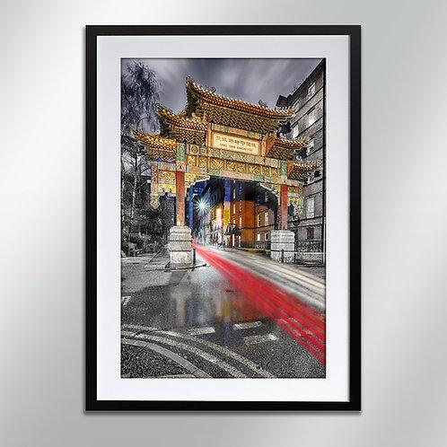 Manchester China Town Arch, Wall Art, Cityscape, Fine Art Photo