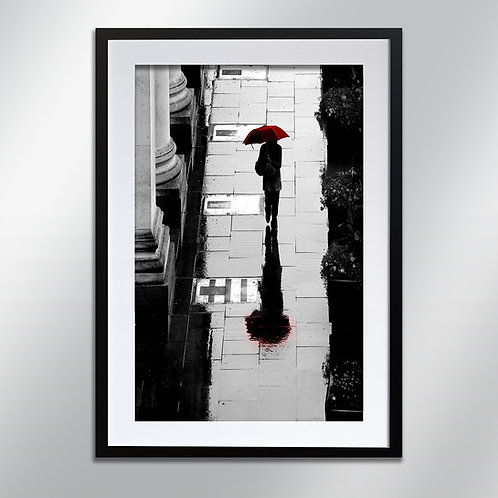 Manchester Girl And Umbrella, Wall Art, Cityscape, Fine Art Photography