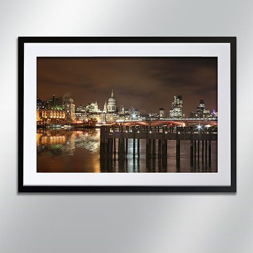 London St Paul's And Pier, Wall Art, Cityscape, Fine Art Photography