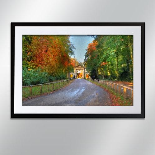 Tatton park gates autumn, Wall Art, Cityscape, Fine Art Photography