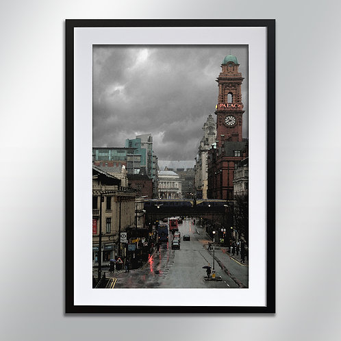 Manchester Rain Oxford Road, Wall Art, Cityscape, Fine Art Photography